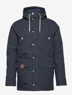 Parka jacket with silver snaps - parki - navy