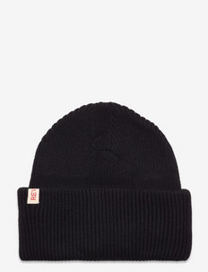 Beanie with a big fold up - bonnets & casquettes - black