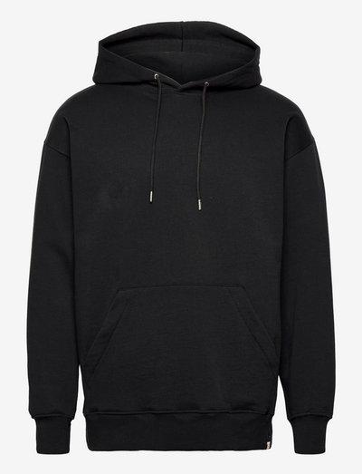 Boxy fit hoodie sweatshirt - hoodies - black