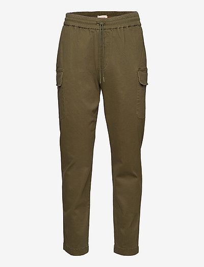 Cargo trousers with vintage wash - chinos - army