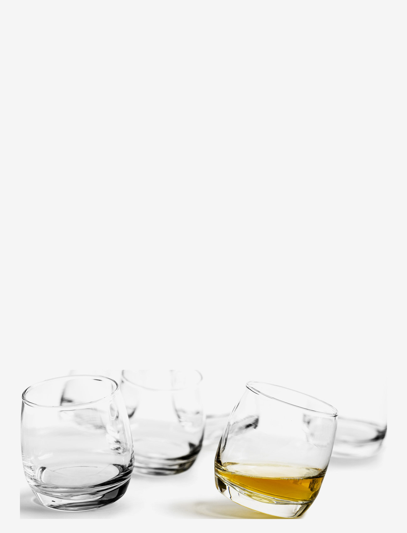 Sagaform - Club whiskey glasses, rounded base, 6-pack - whiskyglass & cognacglass - clear - 0