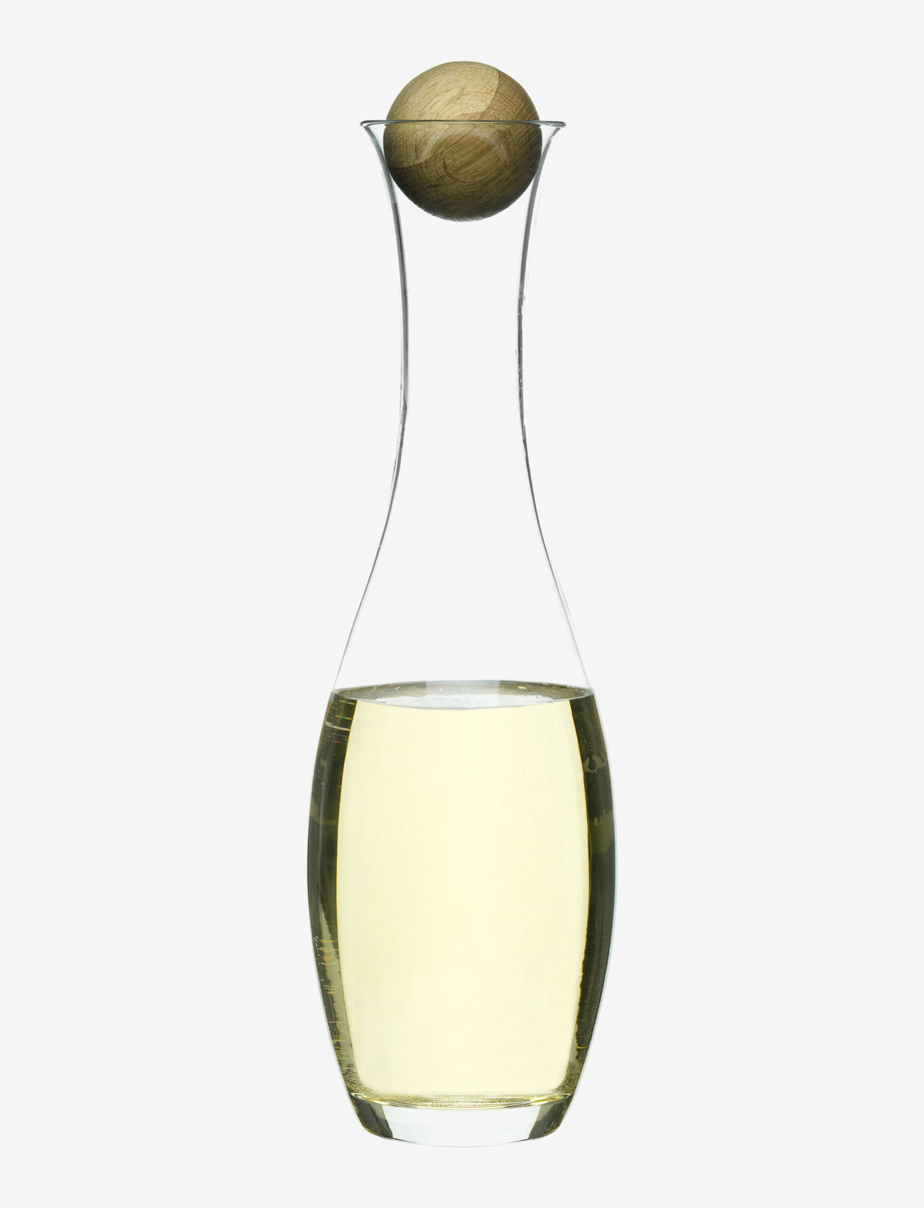 Sagaform - Nature wine/water carafe with oak stopper - viinikarahvit - clear - 0