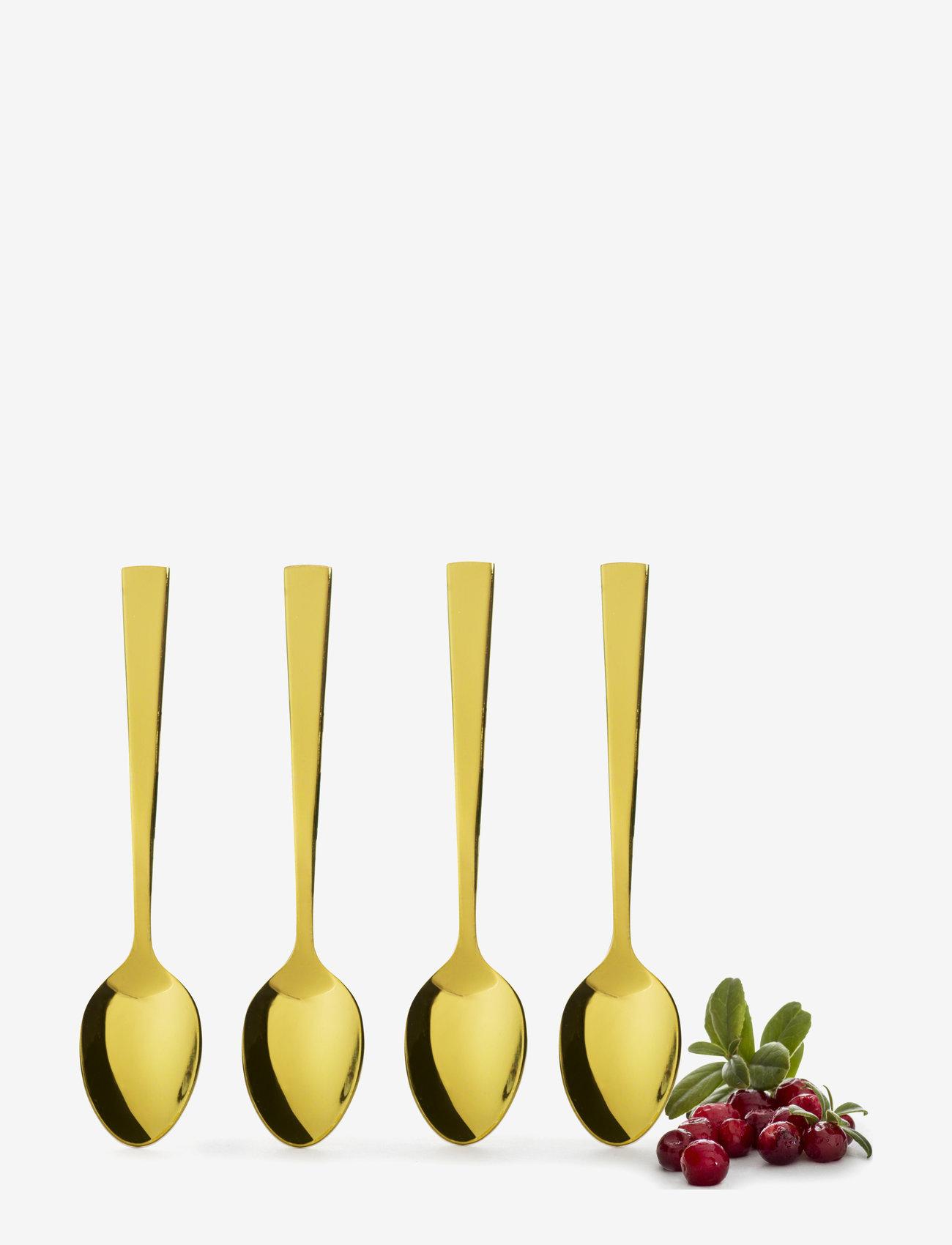 Sagaform - Spoon 4-pack - bestikksett - gold - 1