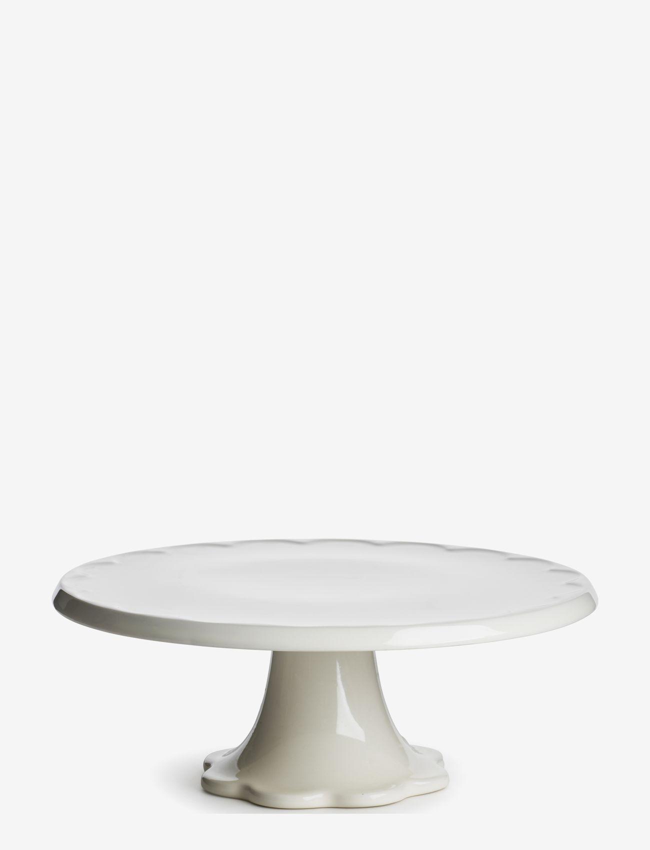 Sagaform - Piccadilly cake plate on foot - kakefat - white - 0