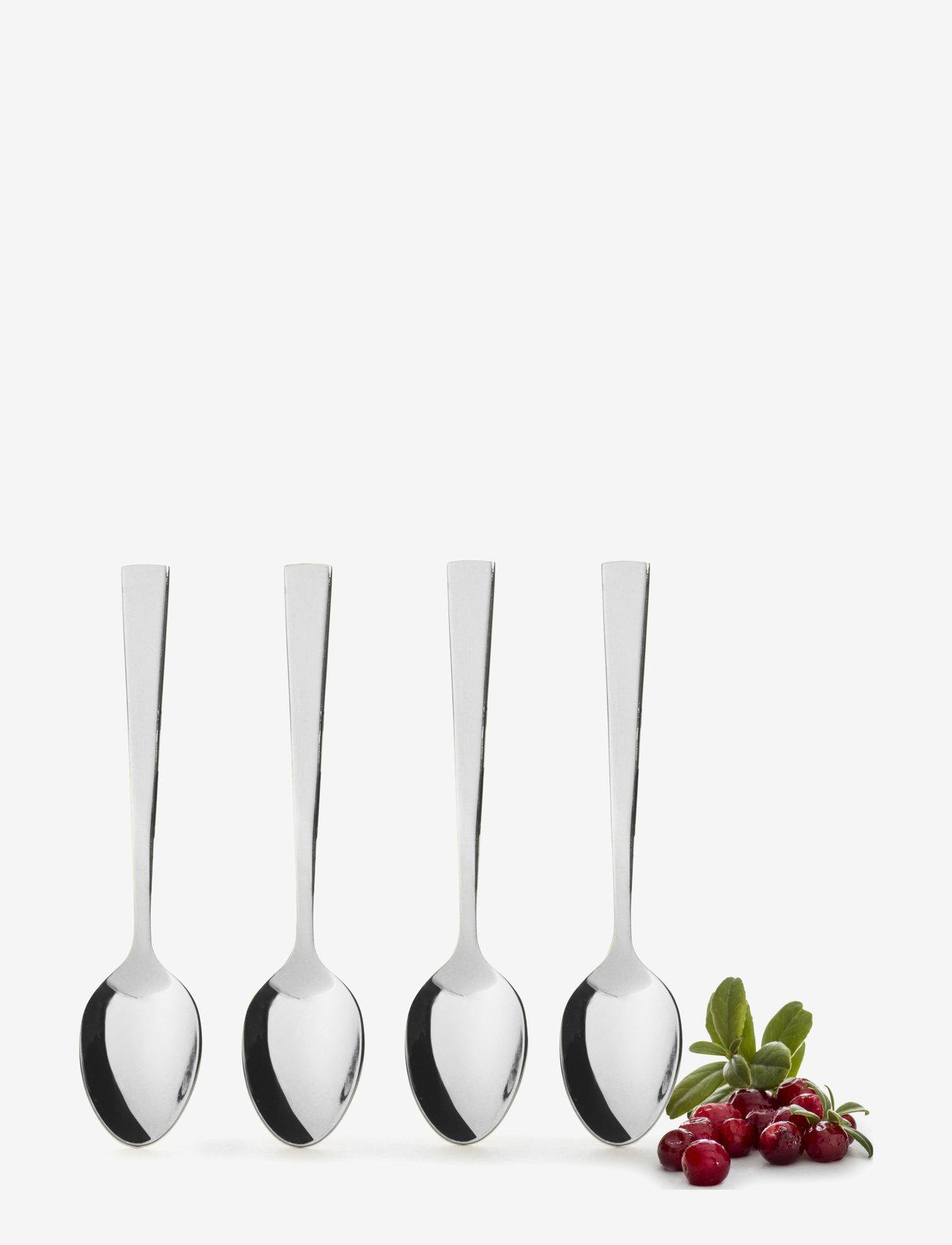 Sagaform - Spoon 4-pack - bestikksett - silver - 1