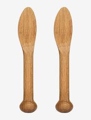 Sagaform - Nature butterknives, 2-pack - smørkniver - brown - 0