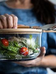 Sagaform - Nature salad bowl with bamboo lid/cutting board - salatboller - brown - 2