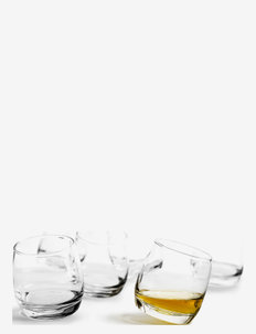 Club whiskey glasses, rounded base, 6-pack - whiskyglass & cognacglass - clear