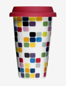 Pix takeaway mug with silicone lid - termokopper - multi