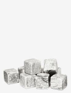 Club whiskey stones 9-pack - isbiter og isbrett - grey