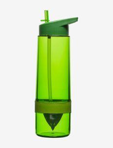 Fresh Bottle with citrus press - vannflasker & glassflasker - green