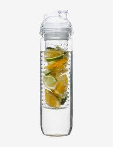 Fresh Bottle with fruit piston - vesi- ja lasipullot - clear