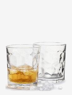 Club tumbler, 2-pack - whiskyglass & cognacglass - clear