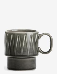 COFFEE & MORE, Coffe mug - kaffekopper - grey