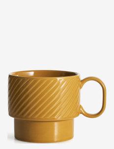 Coffee & More , tea mug - tekopper - yellow