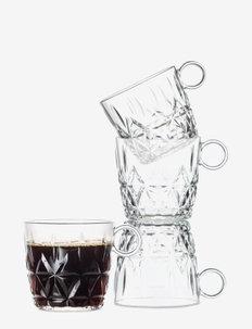 Picnic coffee mug 4-pack - kaffekopper - clear