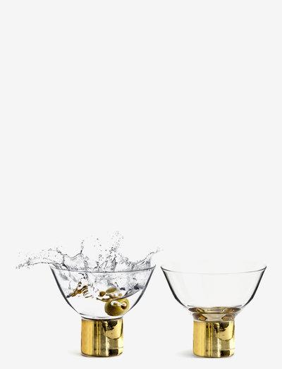 Club cocktail glass 2-pack - martiniglass & cocktailglass - clear