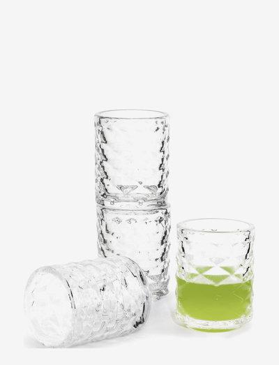 Club shot glass 4-pack - snapsglass & likørglass - clear