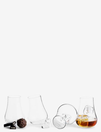 Club whiskey tasting set, 4-pack - whiskyglass & cognacglass - clear