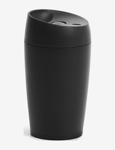 Car mug with lock button 24cl - termospullot - black