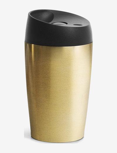 Car mug with lock button 24cl - termospullot - gold