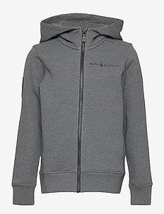 JR ANTARCTICA ZIP HOOD - hoodies - dk grey mel