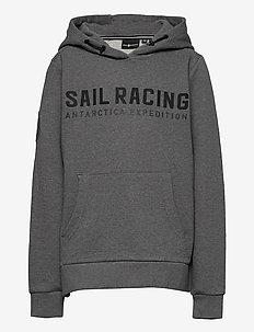 JR ANTARCTICA HOOD - hoodies - dk grey mel