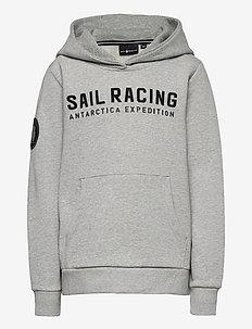 JR ANTARCTICA HOOD - hoodies - grey mel