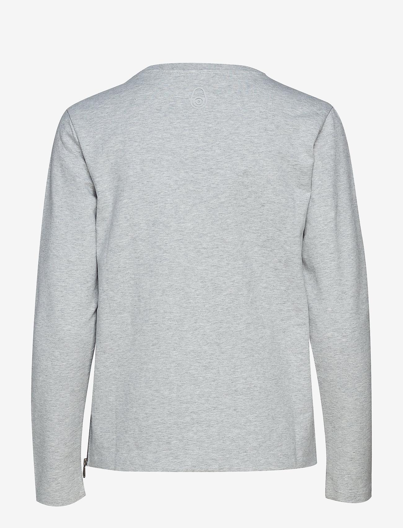 Sail Racing - W RACE ZIP CREW NECK - sweatshirts - grey melange