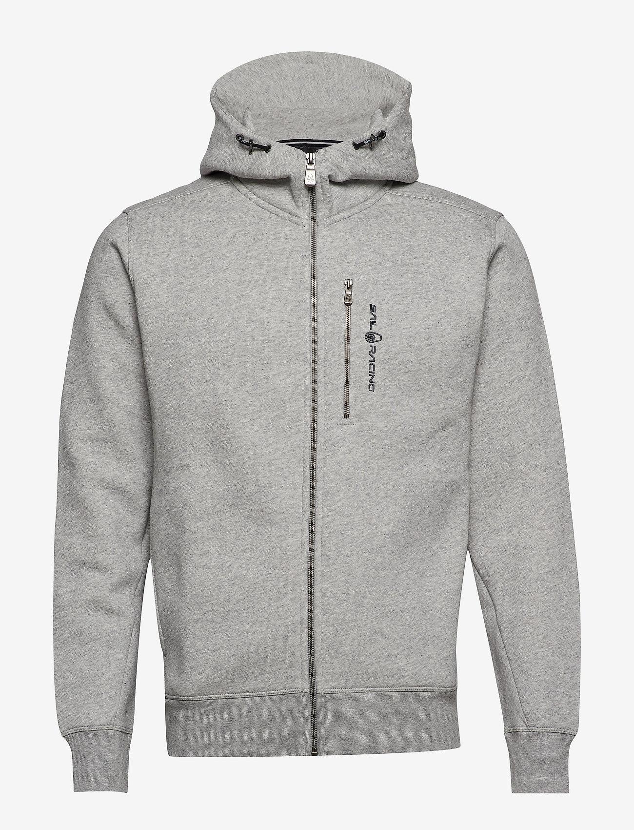 Sail Racing - BOWMAN ZIP HOOD - hoodies - grey mel - 0