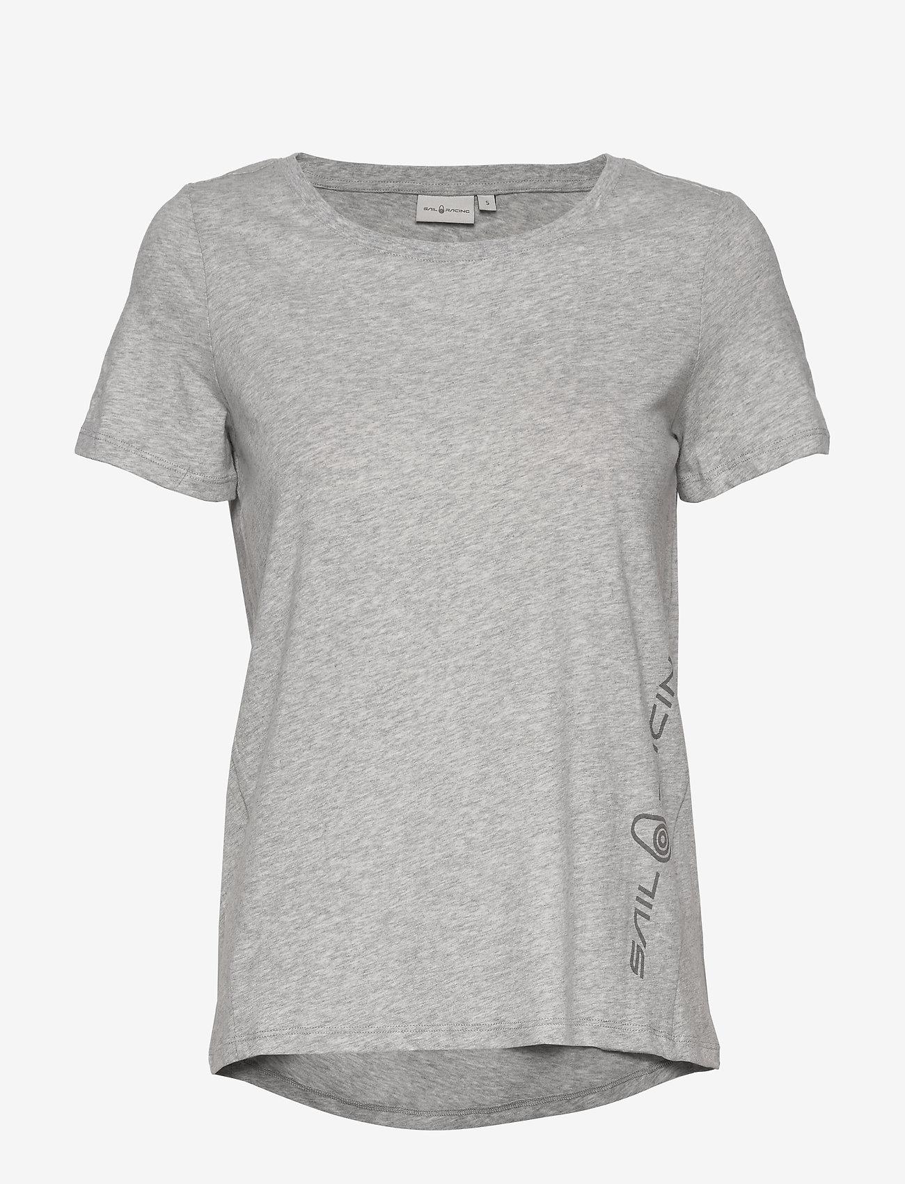 Sail Racing - W GAIL TEE#2 - t-shirts - grey mel - 0