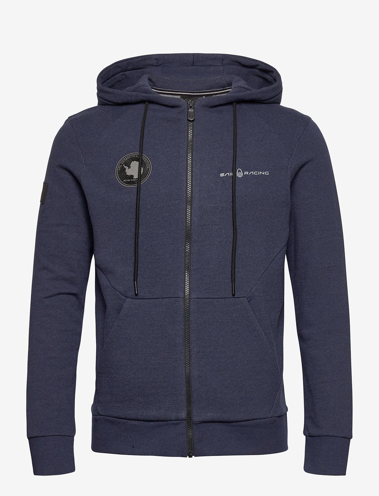 Sail Racing - ANTARCTICA ZIP HOOD - basic sweatshirts - navy melange - 0