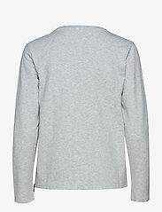 Sail Racing - W RACE ZIP CREW NECK - sweatshirts - grey melange - 1