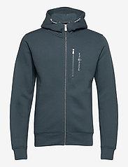 Sail Racing - BOWMAN ZIP HOOD - hoodies - dark steel - 0