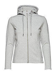 W RACE ZIP HOOD - GREY MELANGE