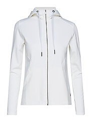 W RACE ZIP HOOD - WHITE