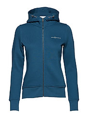 W GALE ZIP HOOD - DARK TEAL
