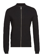 RACE KNITTED BOMBER - CARBON