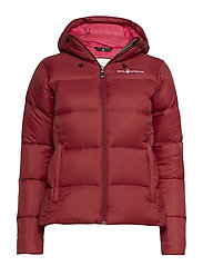 W GRAVITY DOWN JACKET - BURGUNDY RED