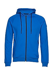 RACE ZIP HOOD - BRIGHT BLUE