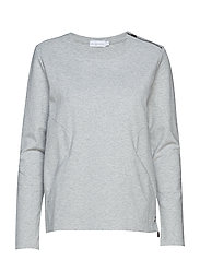 W RACE ZIP CREW NECK - GREY MELANGE
