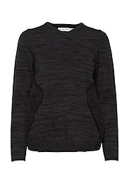 W RACE STRETCHKNIT SWEATER - CARBON MELANGE