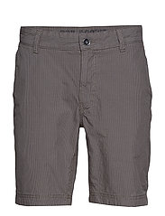 GRINDER CHECK CHINO SHORTS - FRONT GREY
