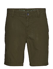 GRINDER CHECK CHINO SHORTS - MIL GREEN