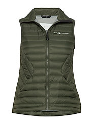 W LINK DOWN VEST - FOREST GREEN
