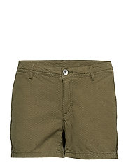 W GALE DOT SHORTS - MILITARY GREEN DOTS
