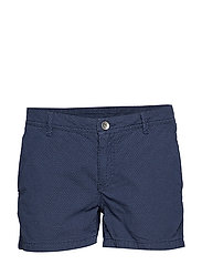 W GALE DOT SHORTS - NAVY DOTS