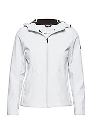 W GALE SOFTSHELL HOOD - SPRAYWHITE