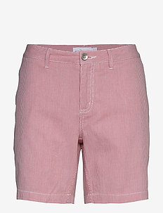W GALE STRIPED CHINO SHORTS - chino shorts - storm red stripe
