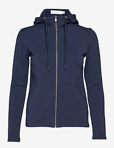 W RACE ZIP HOOD - NAVY